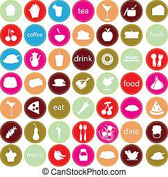 食物, 喝, 圖象