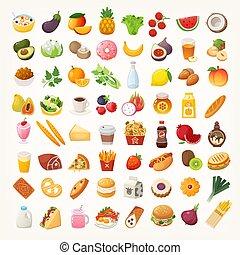 食物, 成分, 盤, 圖象