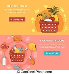 食物, 水平的旗子, 超級市場