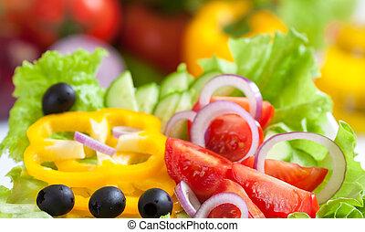 食物, 蔬菜, 新鮮, 沙拉, 健康