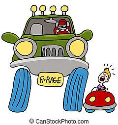 駕駛員, 道路忿怒