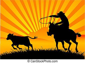 騎馬, 牛仔
