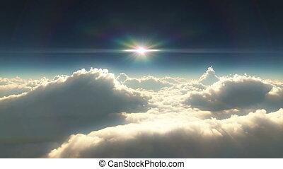 高的云, 傍晚