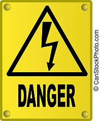 高電壓標志