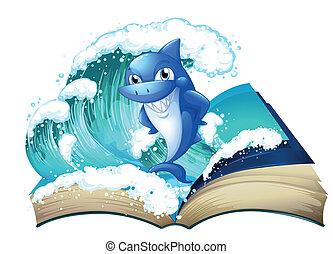 高, 大, 鯊魚, 書, 波浪