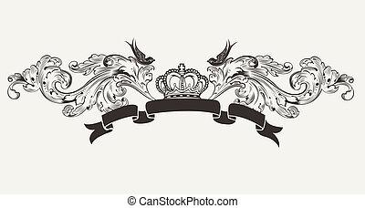 高, 正文, 皇家, 旗幟, 裝飾華麗