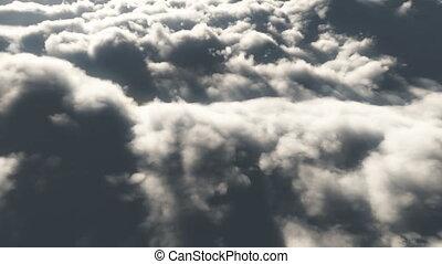 高, 飛, 云霧, 4k