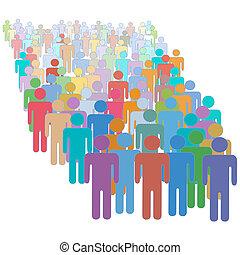 鮮艷, 人們, 人群, 一起, 很多, 多种多樣, 大