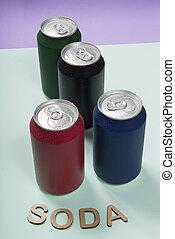 鮮艷, 罐頭, 鋁, 蘇打