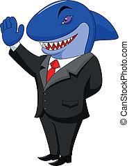 鯊魚, 卡通, 事務