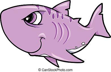 鯊魚, 矢量, 堅韌, 插圖