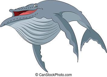 鯨魚, 卡通