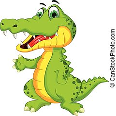 鱷魚, 矯柔造作, 卡通