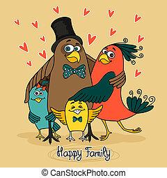 鳥, 家庭, 愉快