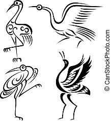 鳥, 插圖, 起重機