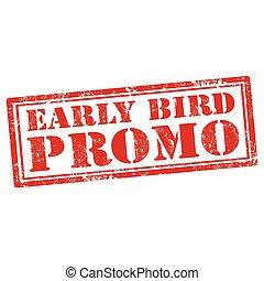 鳥, promo-stamp, 早