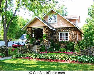鵝卵石, 3, 房子