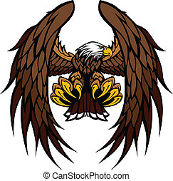 鷹, 吉祥人, 矢量, 翅膀, 爪子