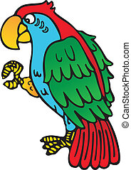 鸚鵡, 黃色, 額嘴