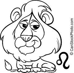 黃道帶, 獅子, leo, 或者, 簽署