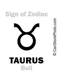 黃道帶, astrology:, (the, bull), 金牛座, 簽署