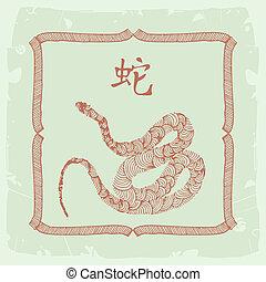 黃道帶, snake-, 漢語, 簽署