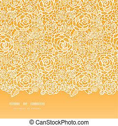 黃金, 帶子, 圖案, seamless, 玫瑰, 背景, 水平