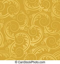 黃金, 打旋, 牆紙, seamless
