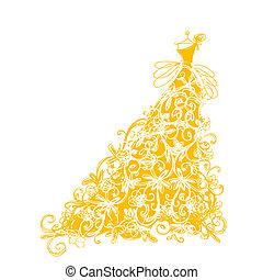 黃金, 略述, 裝飾品, 設計, 植物的服裝, 你