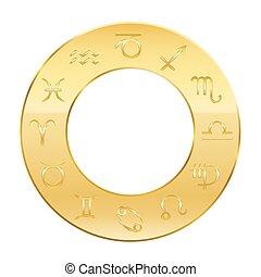 黃金, 黃道帶, 環繞, 占星術