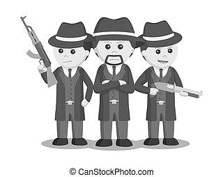 黑手黨, 他的, 老板, 機組