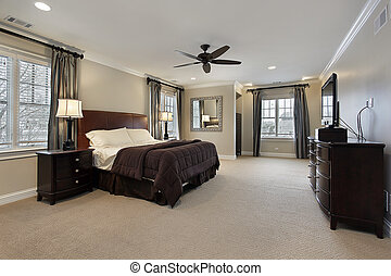 黑暗, 家具, 木頭, 掌握, 寢室