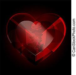 黑暗, heart-crystal, 上升
