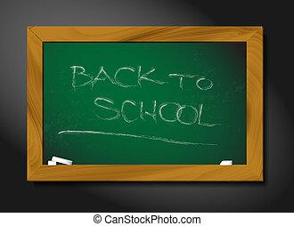 黑板, 學校, 矢量, 插圖