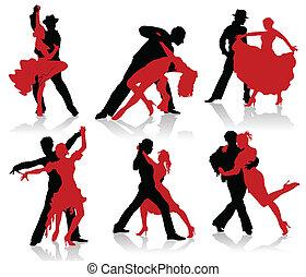 黑色半面畫像, 對, ba, 跳舞