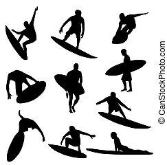 黑色半面畫像, 彙整, 衝浪運動員