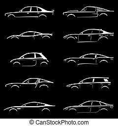 黑色半面畫像, 概念, 集合, 汽車