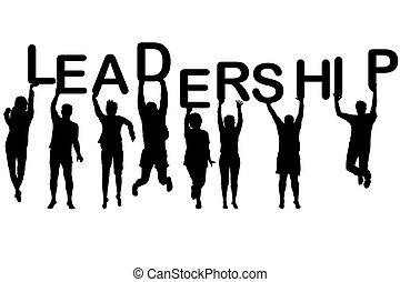 黑色半面畫像, 概念, 領導, 人們