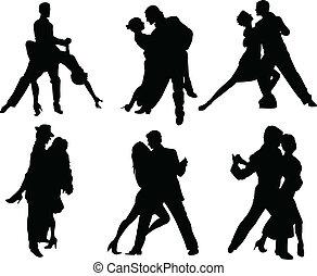 黑色半面畫像, 舞蹈家, 探戈舞