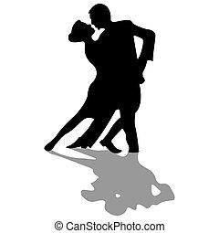 黑色半面畫像, 舞蹈家, 被隔离, 白色