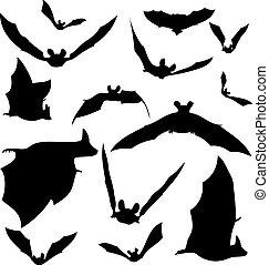 黑色半面畫像, 蝙蝠