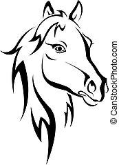 黑色的馬, 黑色半面畫像