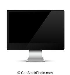 黑色, 屏幕, 現代, 電腦監視器