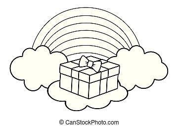 黑色, 白色的云霧, giftbox