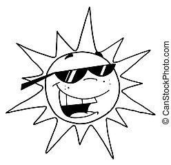 黑色, 白色的太陽, outline