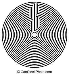 黑色, 輪, 迷宮