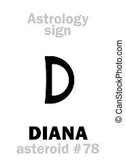 黛安娜, astrology:, 小行星