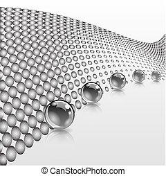 點刻法, 概念, 加點, 事務, effect., 摘要, 球, surface., design.
