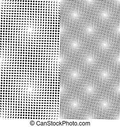 點, 圖案, seamless, (vector)
