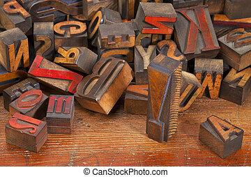 點, letterpress, 驚呼, 塊, 列印